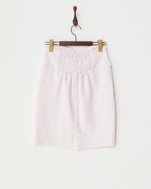 ライトパープル  ギンガムチェックタイトスカート見る