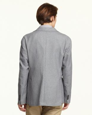 ネイビー メランジ風織り柄2Bジャケット見る