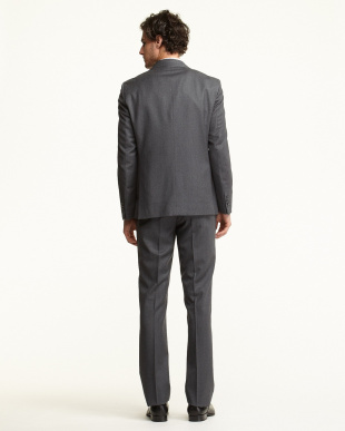 グレー  ソリッド 2Bスーツ見る
