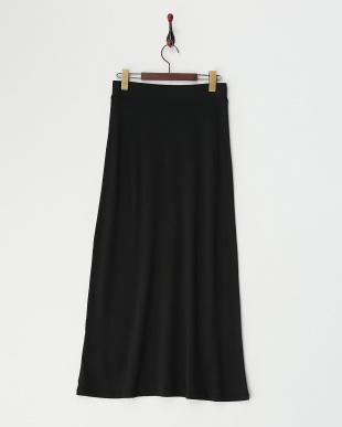 ブラック  ポンチシルク マキシスカート見る