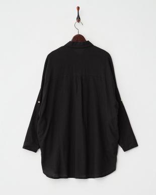 BLACK  シンプルリネンシャツ見る