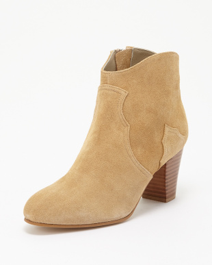 BEIGE SUEDE  ANKLE BOOTS見る