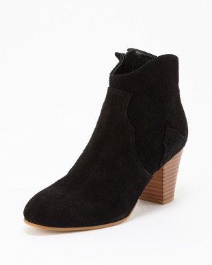 BLACK SUEDE  ANKLE BOOTS見る