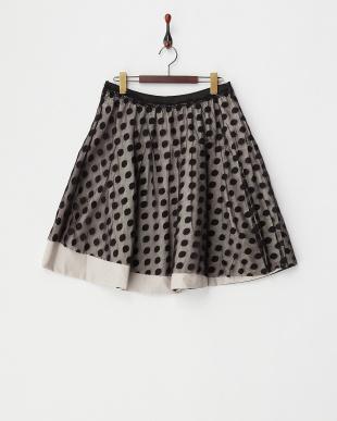グリーン  リバーシブルドットスカート見る