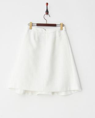 オフホワイト  ツイードフレアスカート見る