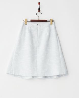 サックス  ツイードフレアスカート見る