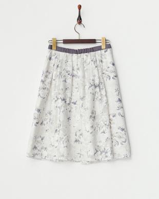 グレー  オパールフラワーフレアスカート見る