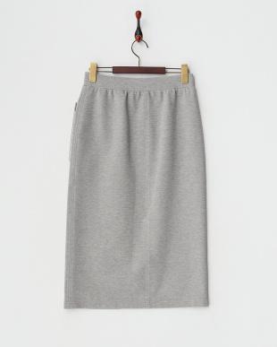 グレー  リブカットタイトスカート見る