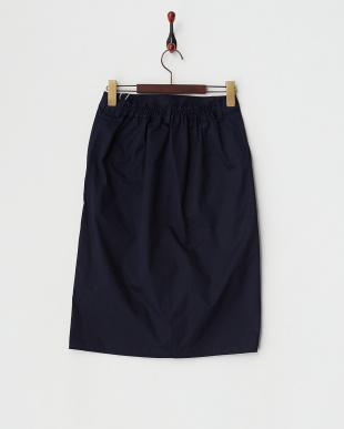 ネイビー コットンウレタンタイトスカート見る