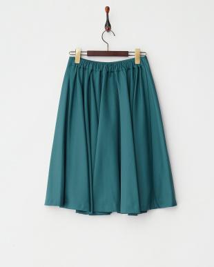 グリーン ツイルタフタスカート見る