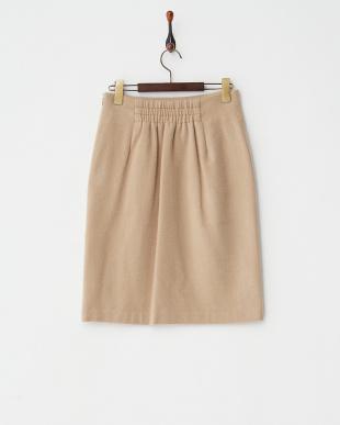 ベージュ  シャギータイトスカート見る