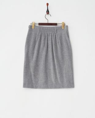 ライトグレー  シャギータイトスカート見る