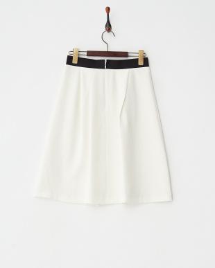ホワイト  ふくれJQフレアスカート見る
