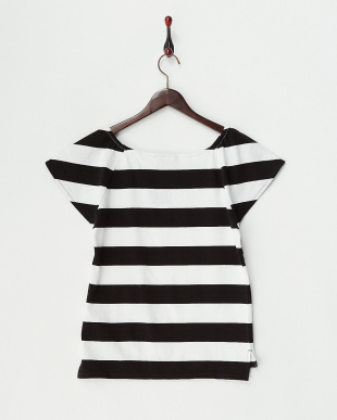 ブラック  Le minor 2WAYフレアスリーブTシャツ見る
