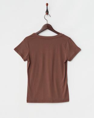 ブラウン  マルチ機能素材 VネックTシャツ見る