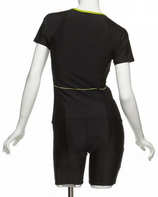 ブラック×ライム  グラデーションZIP半袖美セパレーツ見る