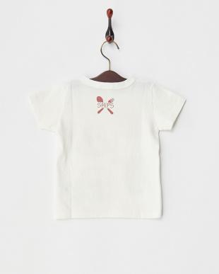 オフホワイト  リフレクションプリントTシャツ KIDS見る