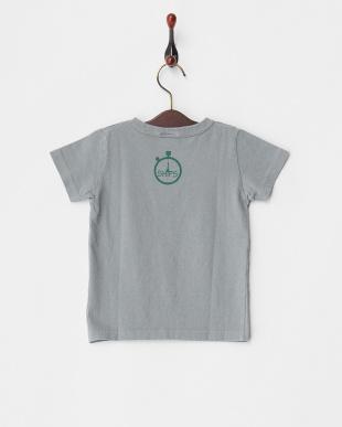 グレー  リフレクションプリントTシャツ KIDS見る