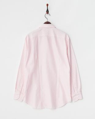 ピンクストライプ MONTI カラミコットンBDシャツ見る