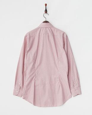 レッド ALBINI コットンチェックシャツ見る