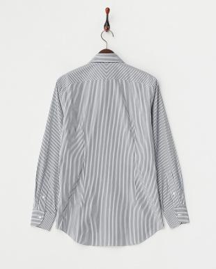 インディゴブルー  ロンドンストライプボタンダウンシャツ見る