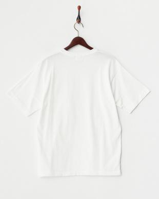 ホワイト  ドロップショルダーTシャツ見る