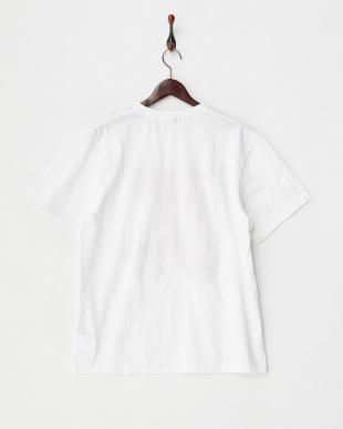 ブルー×イエロー  クルーネックプリントTシャツ見る