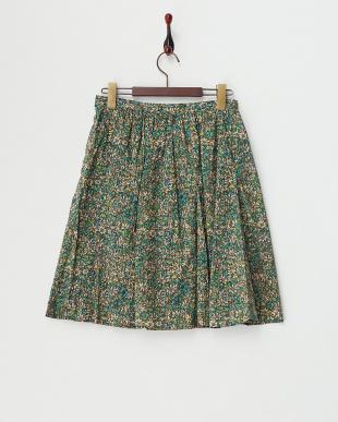 グリーン  リバティタックギャザースカート見る