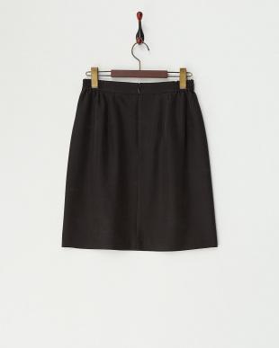 ブラック  タックコクーンスカート見る