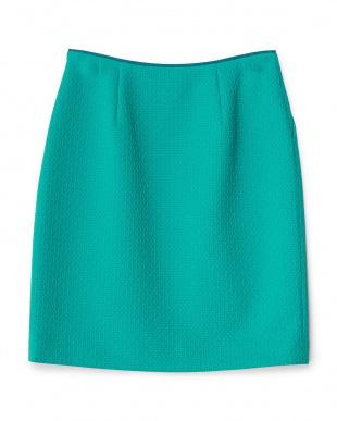 グリーン タック入りサンドロジャカードタイトスカート見る