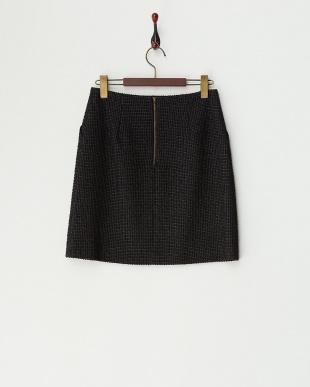 ブラック メランジツイードタイトスカート見る