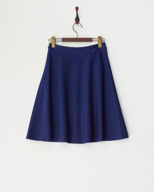 ブルー ポンチフレアスカート見る
