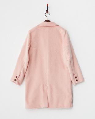 ピンク  MAR 中綿入りシャギーチェスターコート見る