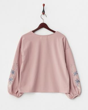 ピンク  PS ドロップショルダー袖刺繍PO見る