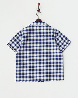 ネイビー  パジャマシャツ見る