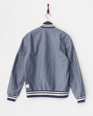 NAVY  BONDING VARSITY JACKET見る