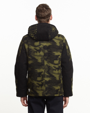 GREEN  HOODED COACH JKT見る
