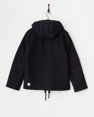 NAVY  HOODED COACH JKT見る