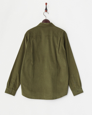 OLIVE DISCHARGE CORD SHIRT見る