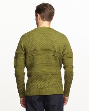 OLIVE  【B】編地変化セーター(ムジ)見る