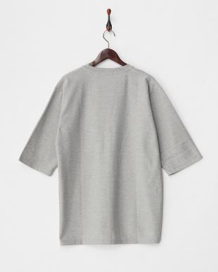 GRAY  カルゼVネックボリュームTシャツ(7分袖)見る