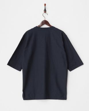 NAVY  カルゼVネックボリュームTシャツ(7分袖)見る