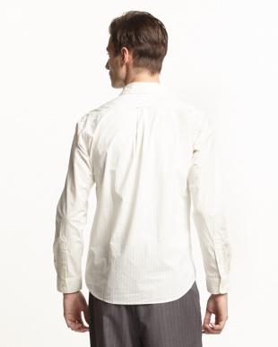 WHITE  レギュラーカラーシャツ(ストライプ)見る