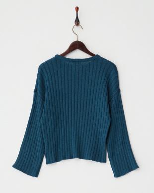 BLUE  ワイドスリーブセーター見る