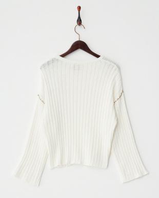OFF WHITE  ワイドスリーブセーター見る
