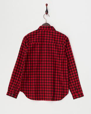 BLK/RED ミニブロックチェックシャツ WH見る
