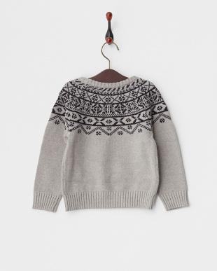 GRAY  ノルディックセーター見る
