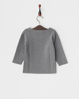 GRAY  ミラノリブクルーセーター見る