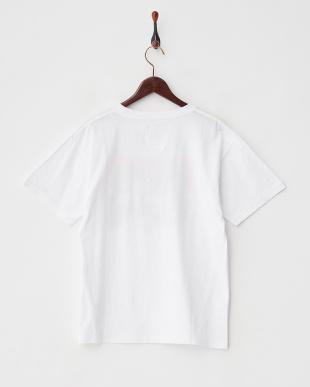 ホワイト×オレンジ  フォトプリントTシャツ見る