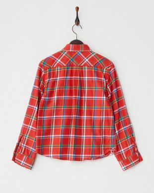 レッド  ボックスネルチェックシャツ見る